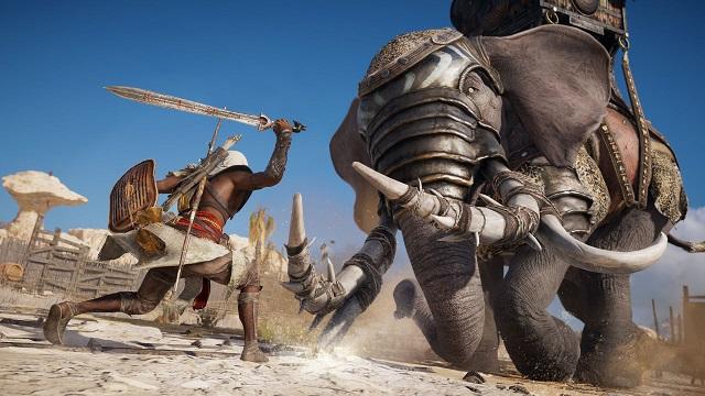[Game 2017] ทำไปได้! ผู้เล่น Assassin's Creed Origins ท้าสู้กับช้างศึกตัวต่อตัวด้วยมือเปล่า