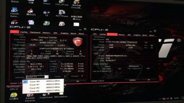 MB MSI Z170 Intel Gen8 1
