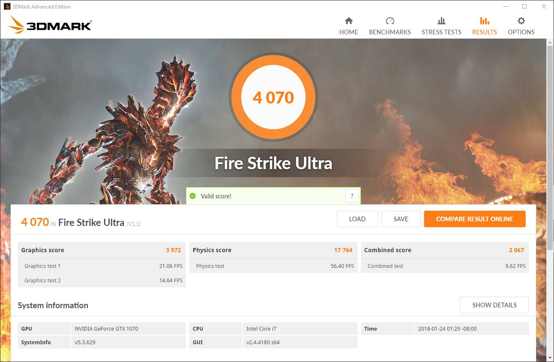 vortex g25 3d mark fire strike ultra 1