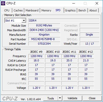 vortex g25 CPU Z 5