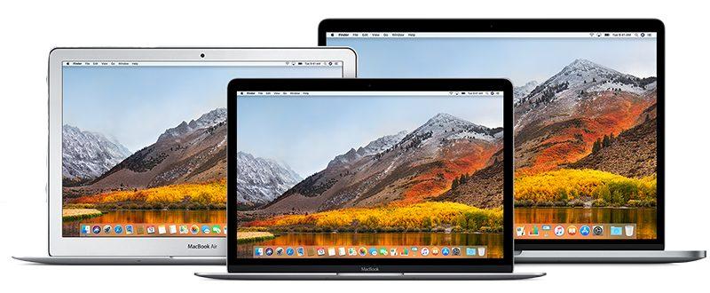 mac macbook family trio