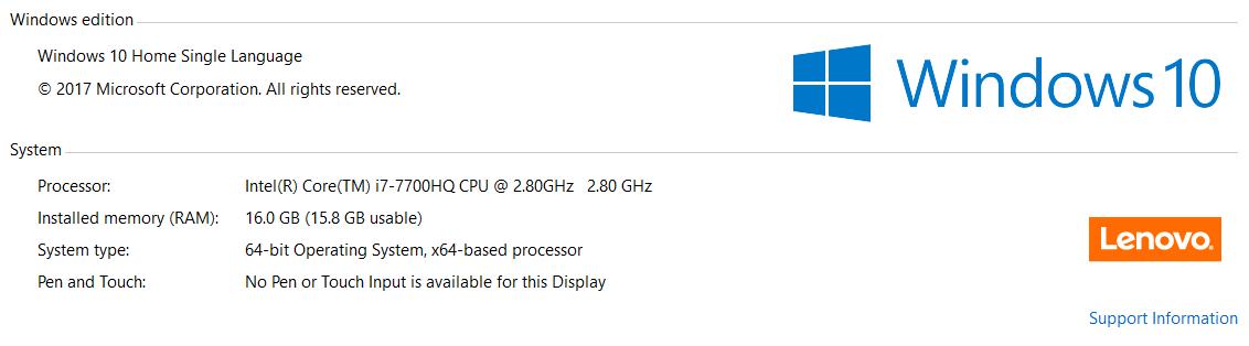 Lenovo Y720 window