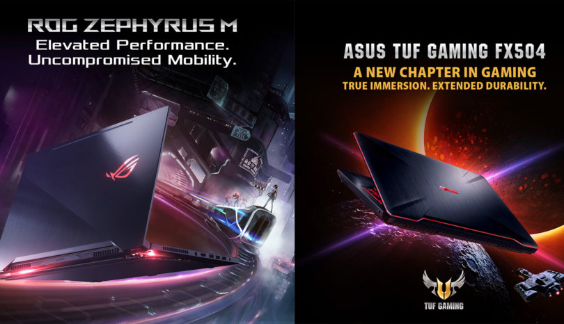 ASUS ROG Zephyrus M and TUF Gaming FX504