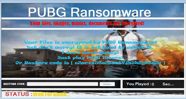 PUBG – แบบนี้ก็มี! พบมัลแวร์ Ransomware แนวใหม่จะปลดล็อคไฟล์ได้ต้องเล่นเกม PUBG 1 ชั่วโมงซะก่อน
