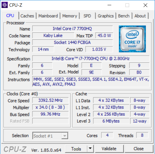 Scar GL503VS cpu1
