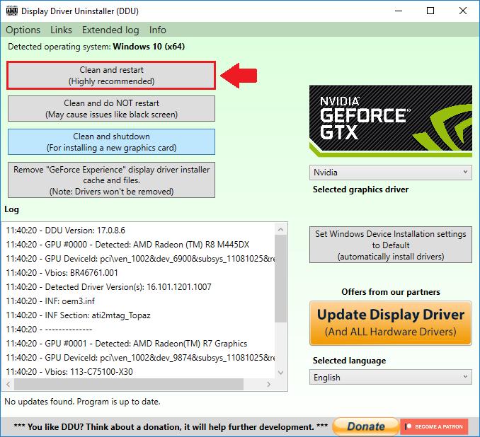 Game Tips - แก้ใช้ไดร์เวอร์ NVIDIA รุ่นล่าสุด เจอบัคกับ Windows 10