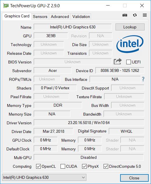 Acer Helios 300 144 Hz GPU2