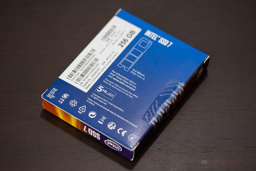 INTEL SSD NVME 256GB 2