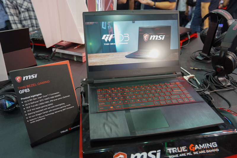 MSI GF63 Gaming Notebook Preview 3