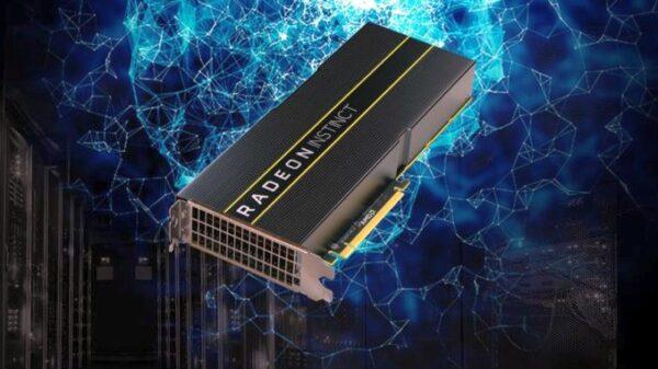 AMD Radeon Instinct video card with 7 nm Vega GPU
