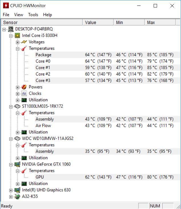 ASUS FX504GM temp1