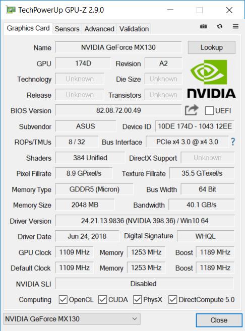 ASUS ZenBook UX410UF GPU1