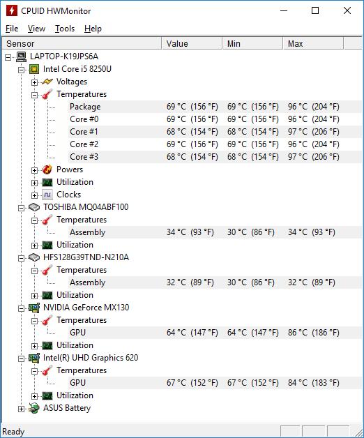 ASUS ZenBook UX410UF temp 2
