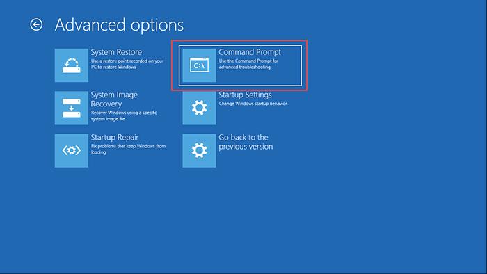 Advance Option Windows 10 2