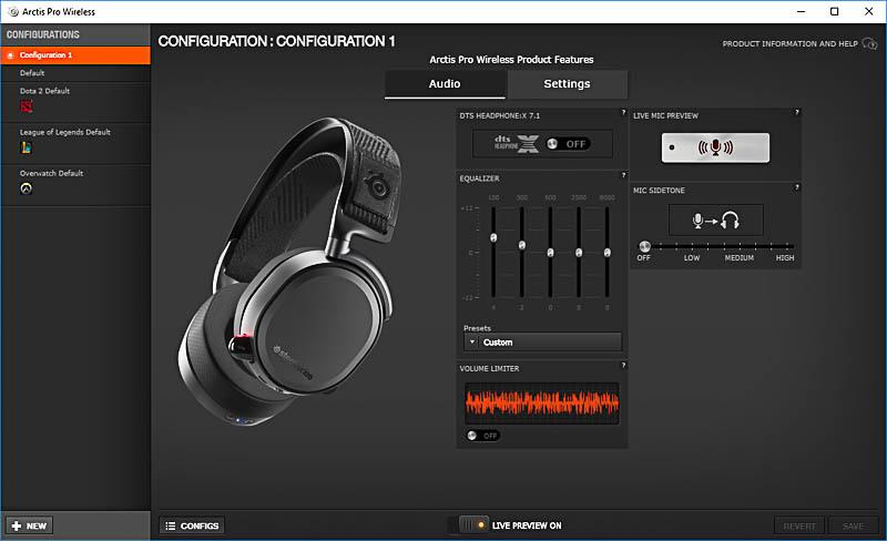 SteelSeries Arctis Pro Wireless engine 1