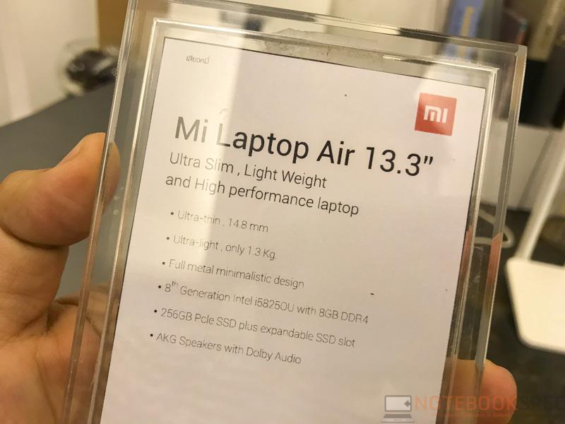 Xiaomi Mi Laptop Air 13.3 Preview 13