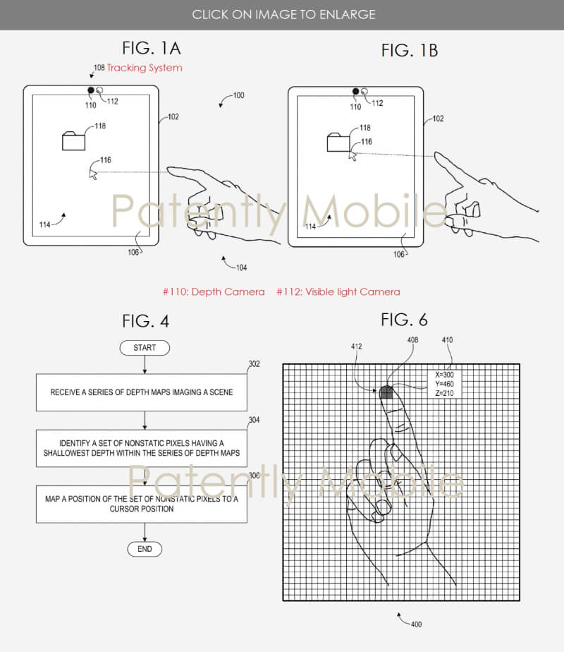 patent of touchless input