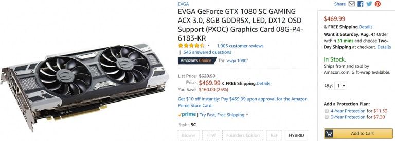 EVGA 1080 Amazon
