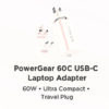 Innergie's new PowerGear™ 60C USB C Laptop Adapter the world's smallest adapter p2