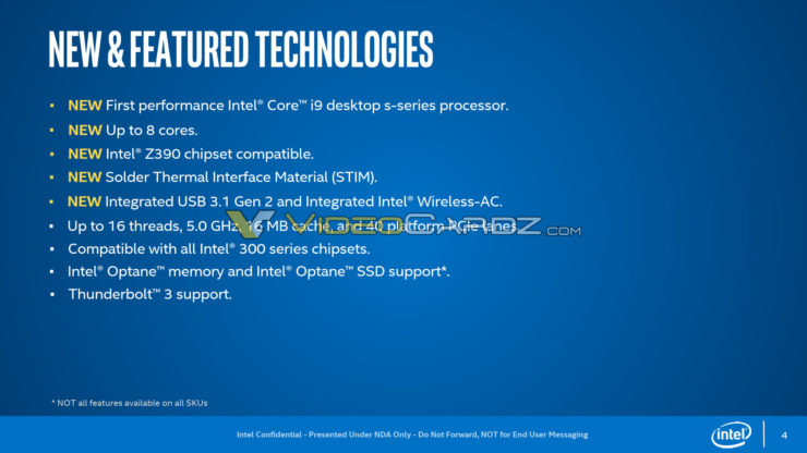 Intel Core 9000 Main Features 1
