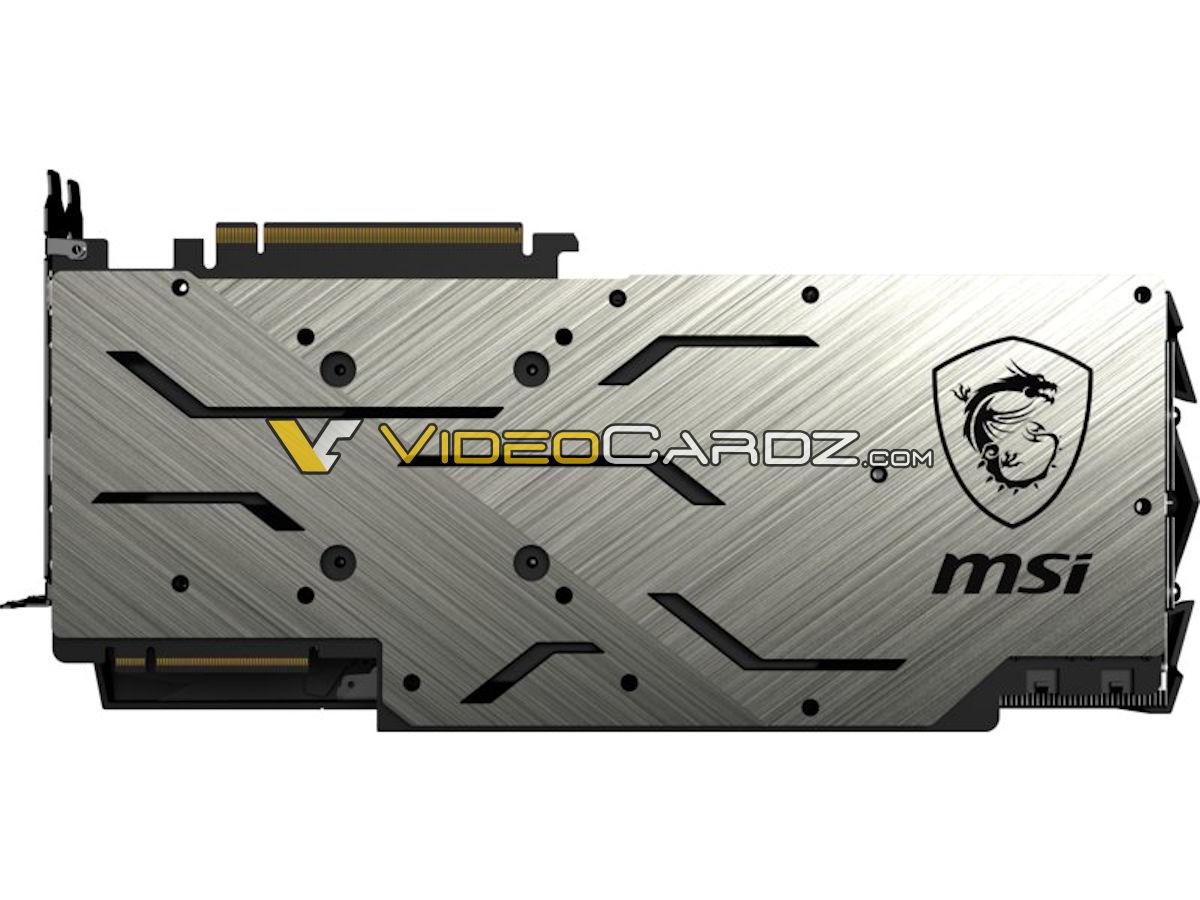 MSI RTX 2080 Ti GAMING X TRIO Backplate