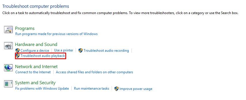 เสียงไม่ออกหูฟัง Windows 10