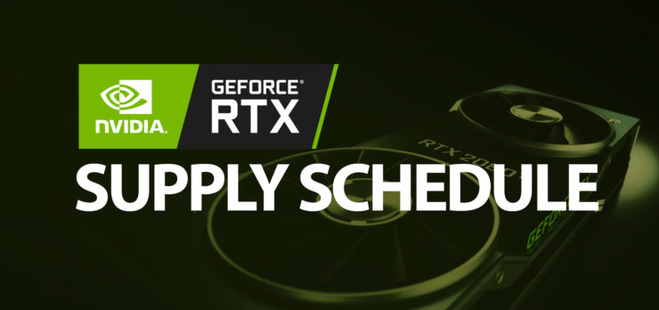 nvidia rtx supply schedule feature