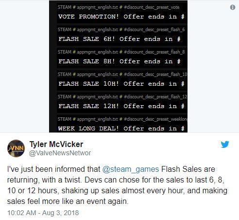 steam flash sale