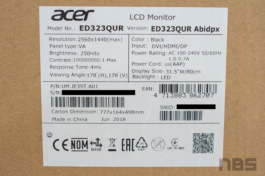 Acer ED323QUR 11