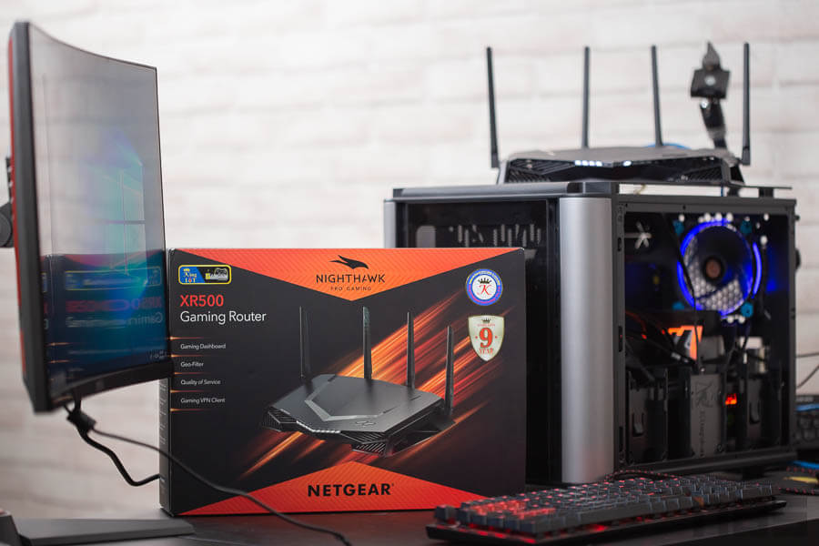 NightHawk Progaming XR 500 Gaming Rounter net Gear 12