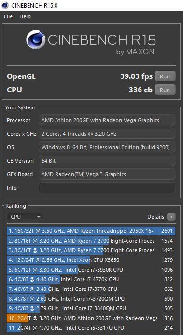 AMD Athlon 200GE 9
