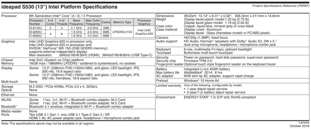 Lenovo IdeaPad S530 13IWL 1 e1539147903494