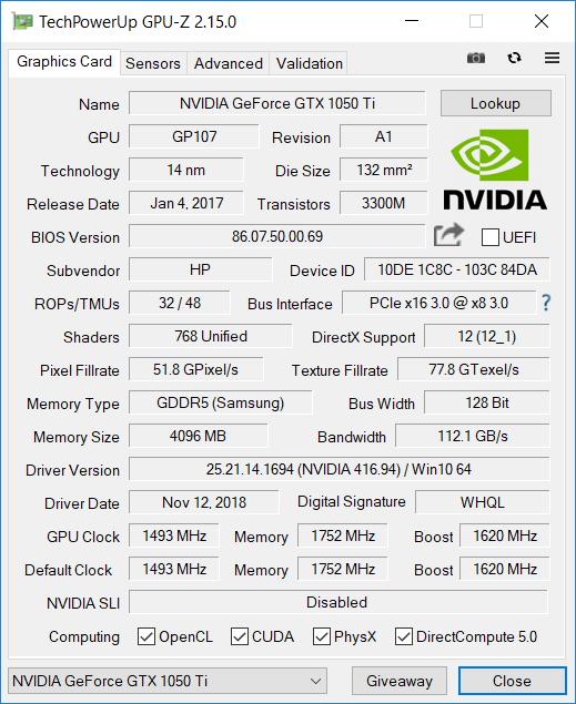 HP Omen 2018 GPU1
