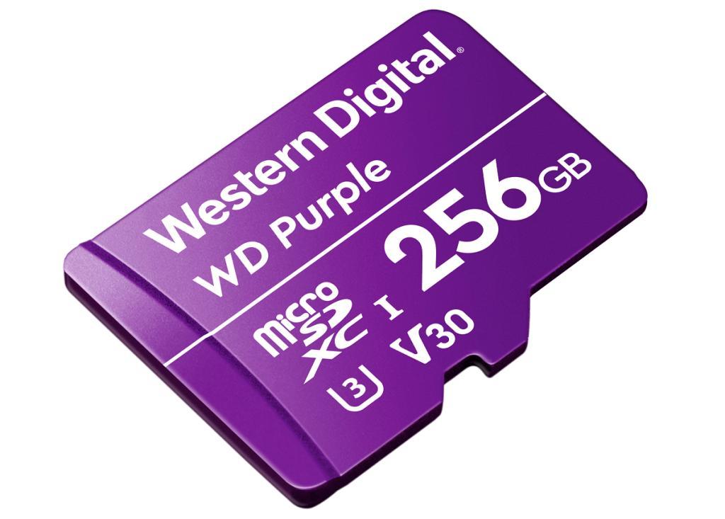 WD Purple microSD Angled HR 256GB