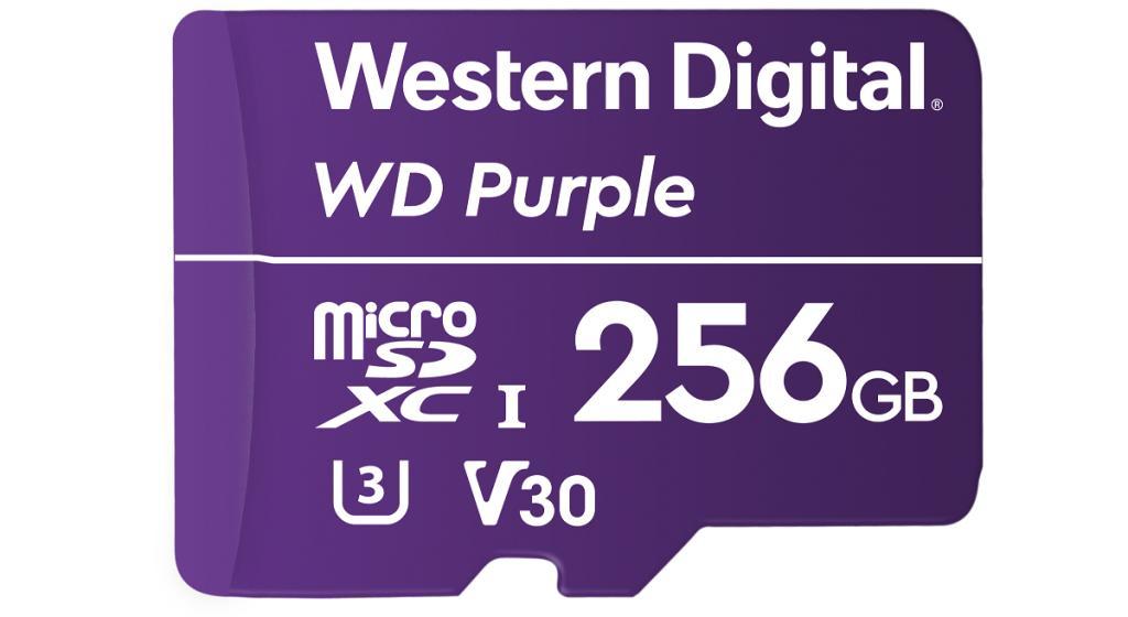 WD Purple microSD Front HR 256GB