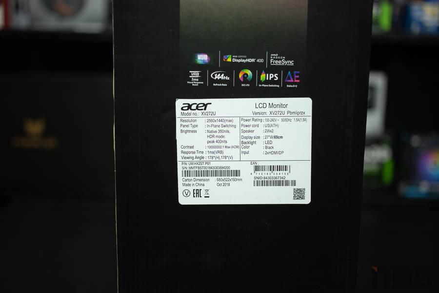 ACER LCD Monitor Nitro XV27 41