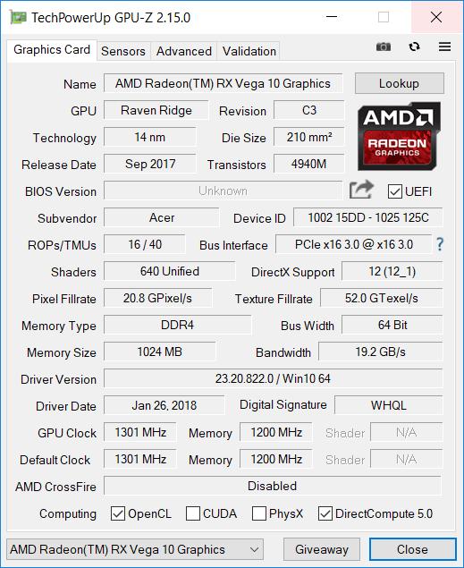 Acer Ryzen 7 gpu1