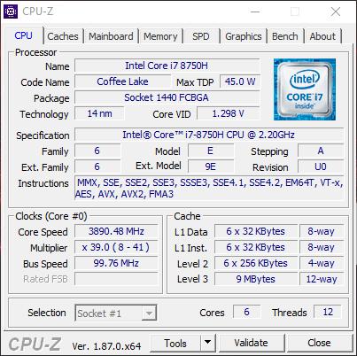 MSI GE75 8RF cpu1