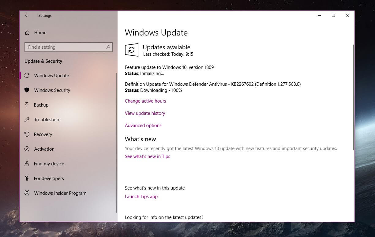 windows 10 version 1809 now available for more users