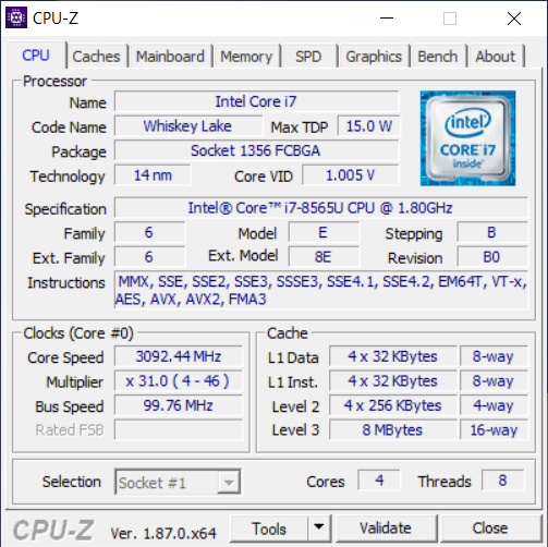 ASUS ZenBook 14 UX433F cpu1