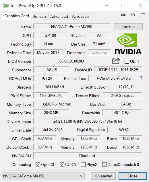 ASUS ZenBook 14 UX433F gpu1