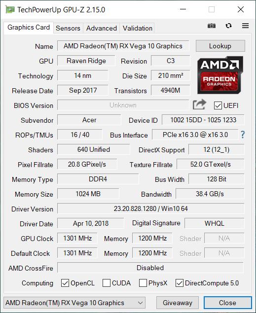 Acer Swift 3 AMD gpu1