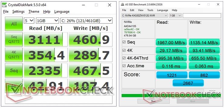 Alienware m15 storage test