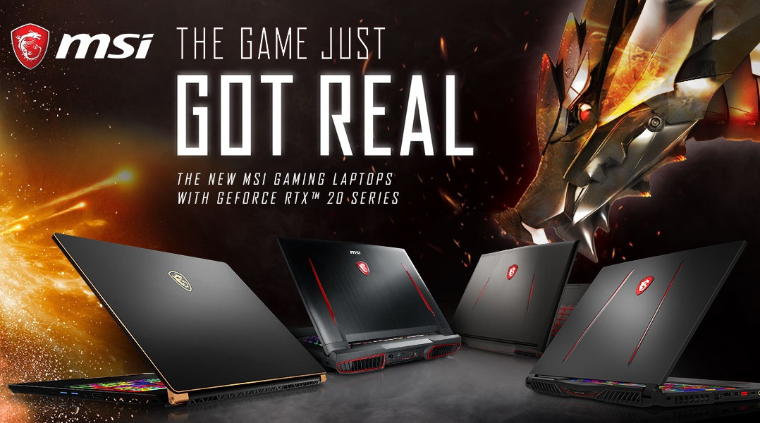 RTX MSI notebooks banner