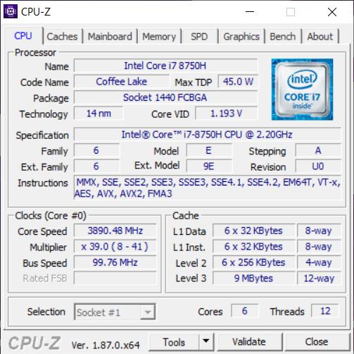 ASUS ROG GL504GV cpu1