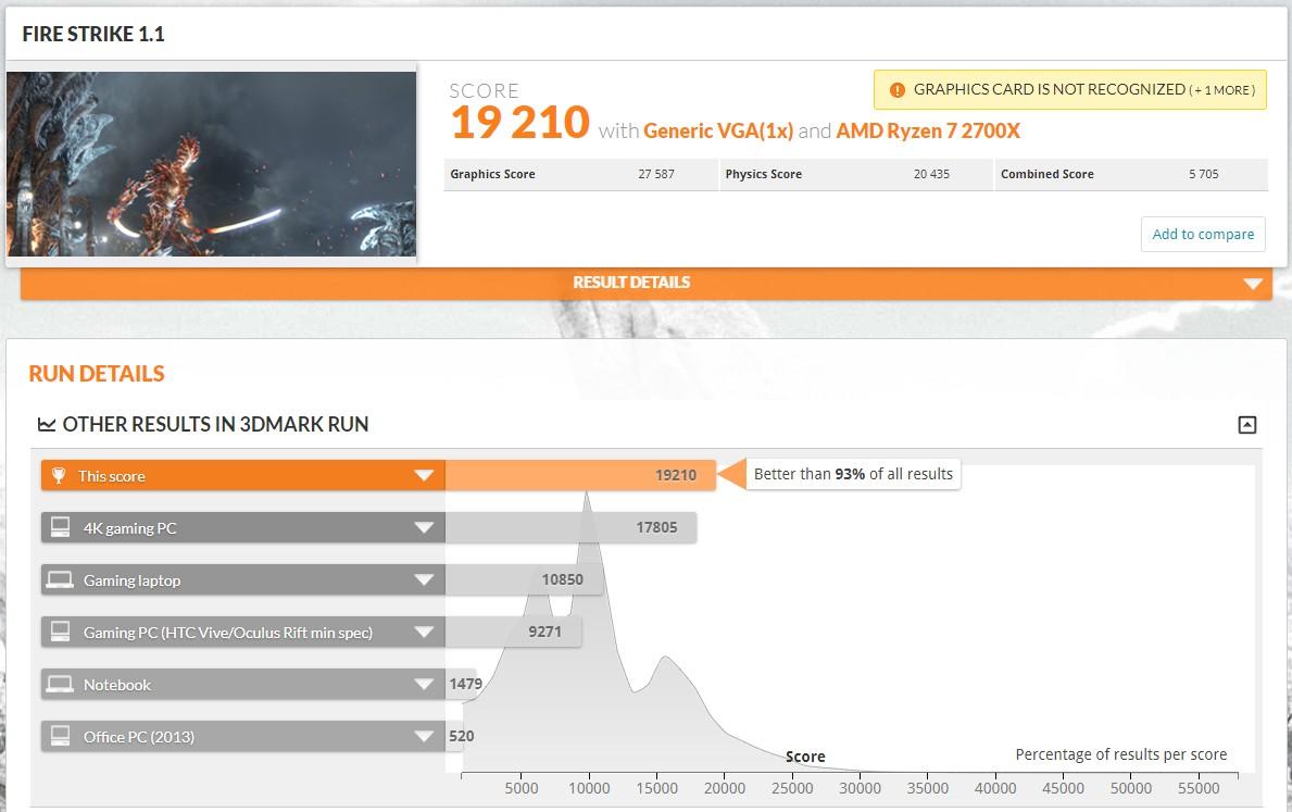 Alleged AMD Radeon VII video card Fire Strike 1.1 benchmark results