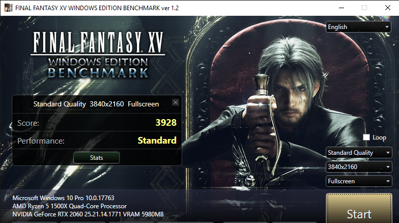 FINAL FANTASY XV WINDOWS EDITION BENCHMARK ver 1.2 2 1 2019 9 19 33 AM