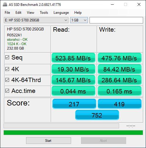 HP S700 test 5
