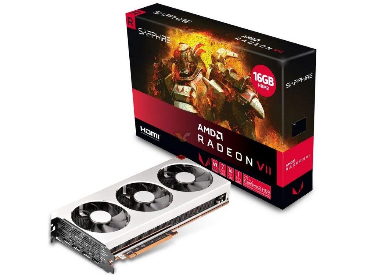 Sapphire AMD Radeon VII video card retail package