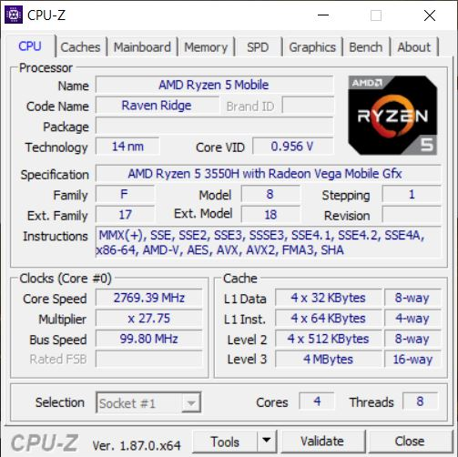 ASUS FX505DY cpu1